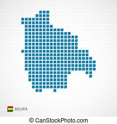 Bolivia map and flag icon