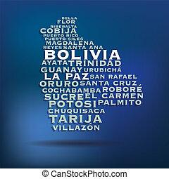 Bolivia map concept