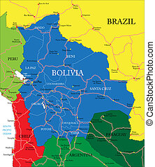 Vector Clip Art Of Argentina Map Highly Detailed Map Of - Argentina map detailed