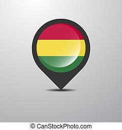 Bolivia Map Pin