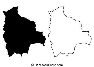 Bolivia map vector