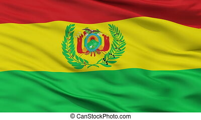 Bolivia Militar Flag Closeup Seamless Loop