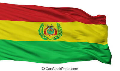 Bolivia Militar Flag Isolated Seamless Loop