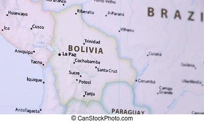 Bolivia on a Map