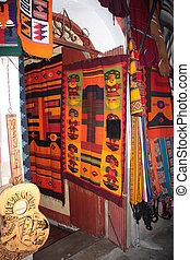 Bolivian woven souvenirs shop - Traditional Bolivian woven...