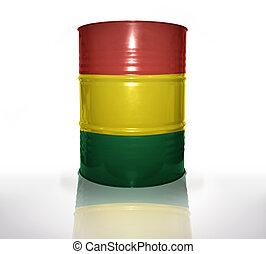 boliviano, bandeira, barril