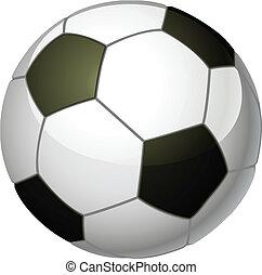 boll, fotboll, illustration