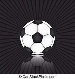 boll, fotboll, svart fond