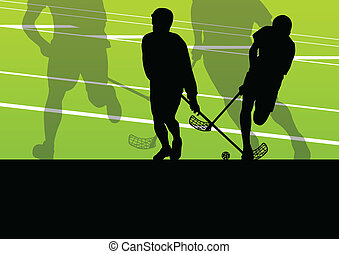 boll, golv, illustration, spelaren, silhouettes, vektor, bakgrund, aktiv, sport, barn