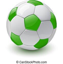 boll, ikon, fotboll, 3