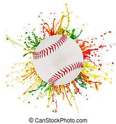 boll, plaska, sport, färgrik