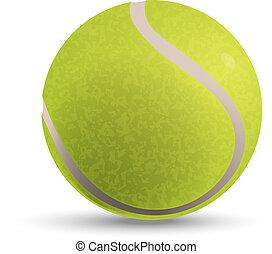 boll, tennis, illustration