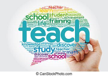 bolla, insegnare, parola, pensare, nuvola