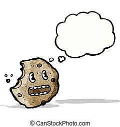 bolla pensiero, biscotto, cartone animato