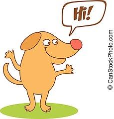 bolla, pensiero, cartone animato, cane