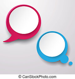 bolla pensiero, etichette, discorso