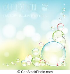 bolla, trasparente, sapone