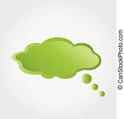 bolla, verde, nuvola