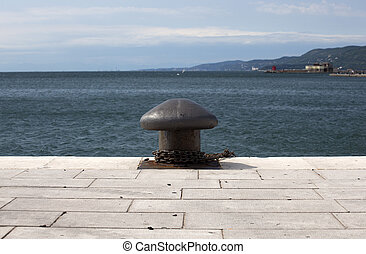 Bollard - Ship pier bollard in Trieste