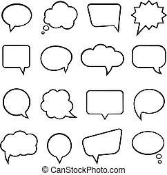 bolle, discorso, infographics