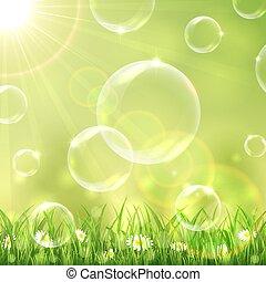 bolle, fondo, natura