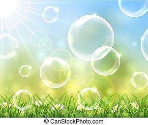 bolle, soleggiato, fondo