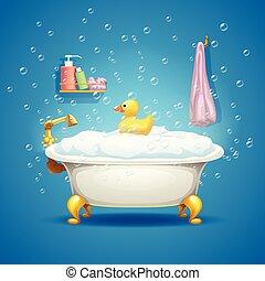 bolle, vasca bagno