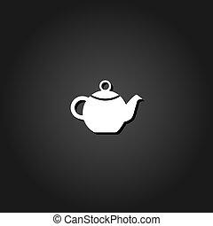 bollitore tè, flat., icona