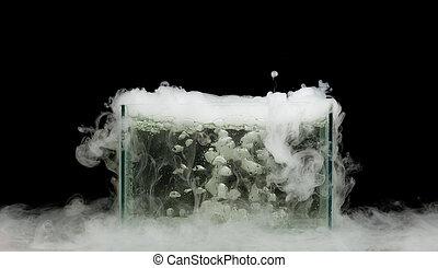 bollitura, ghiaccio secco, con, vapore