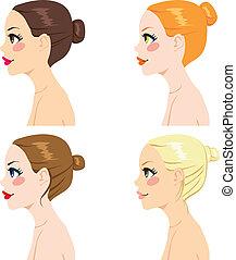 bollo de pelo, estilos