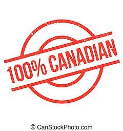 bollo gomma, 100 percento, canadese