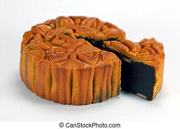 bolo, 2, chinês, lua
