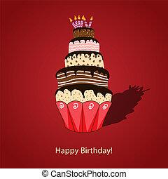 bolo, aniversário