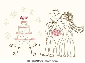 bolo, casório