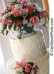 bolo casamento, closeup