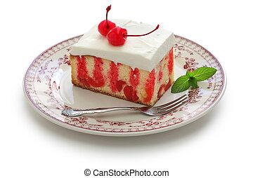 bolo, cereja, atiçar, caseiro