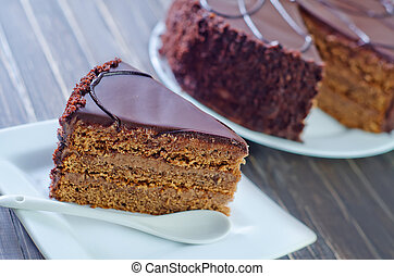 bolo, chocolate
