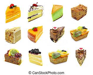 bolo, cobrança, fatias