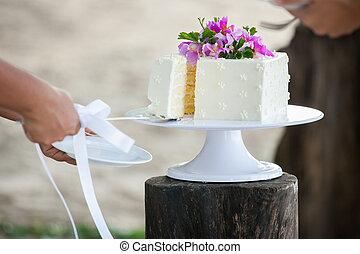 bolo, corte, casório