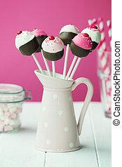 bolo, estouros, cupcake