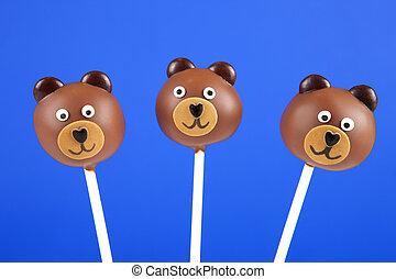 bolo, estouros, urso