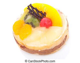 bolo, low-calorie, fruta