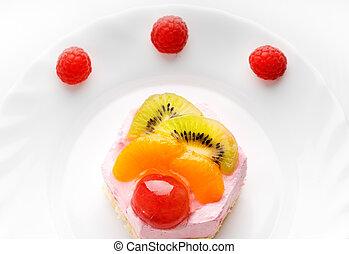 bolo, low-calorie, gostoso, fruta
