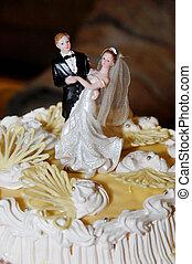 bolo, noivinhos, figuras