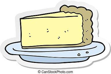 bolo queijo, adesivo, caricatura