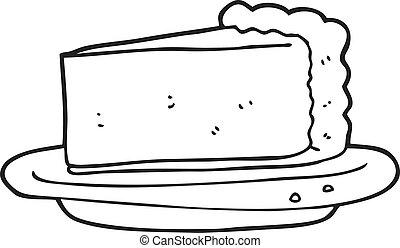 bolo queijo, branca, pretas, caricatura