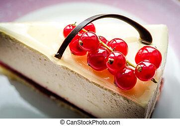 bolo queijo, closeup, redcurrant