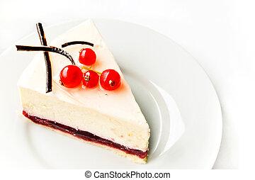 bolo queijo, groselha, vermelho