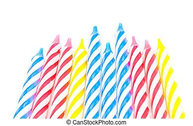 bolo, velas, diferente, dez