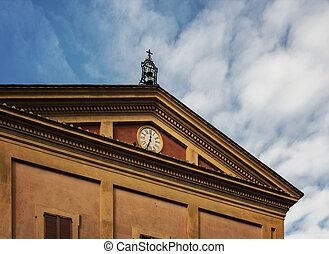 Bologna clock building